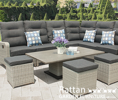 Grey rattan sofa set buy online