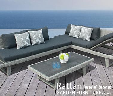 Modern rattan sofa set